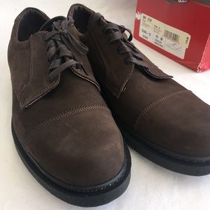 Men's Brown Leather Shoes Size 10